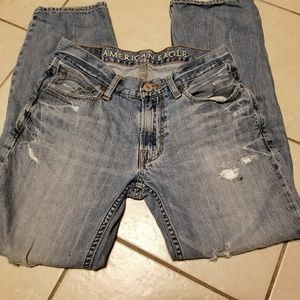 AE Original  Straight  Distressed Destroyed Jeans